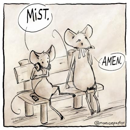 Zeichnung vom Mäusepastor