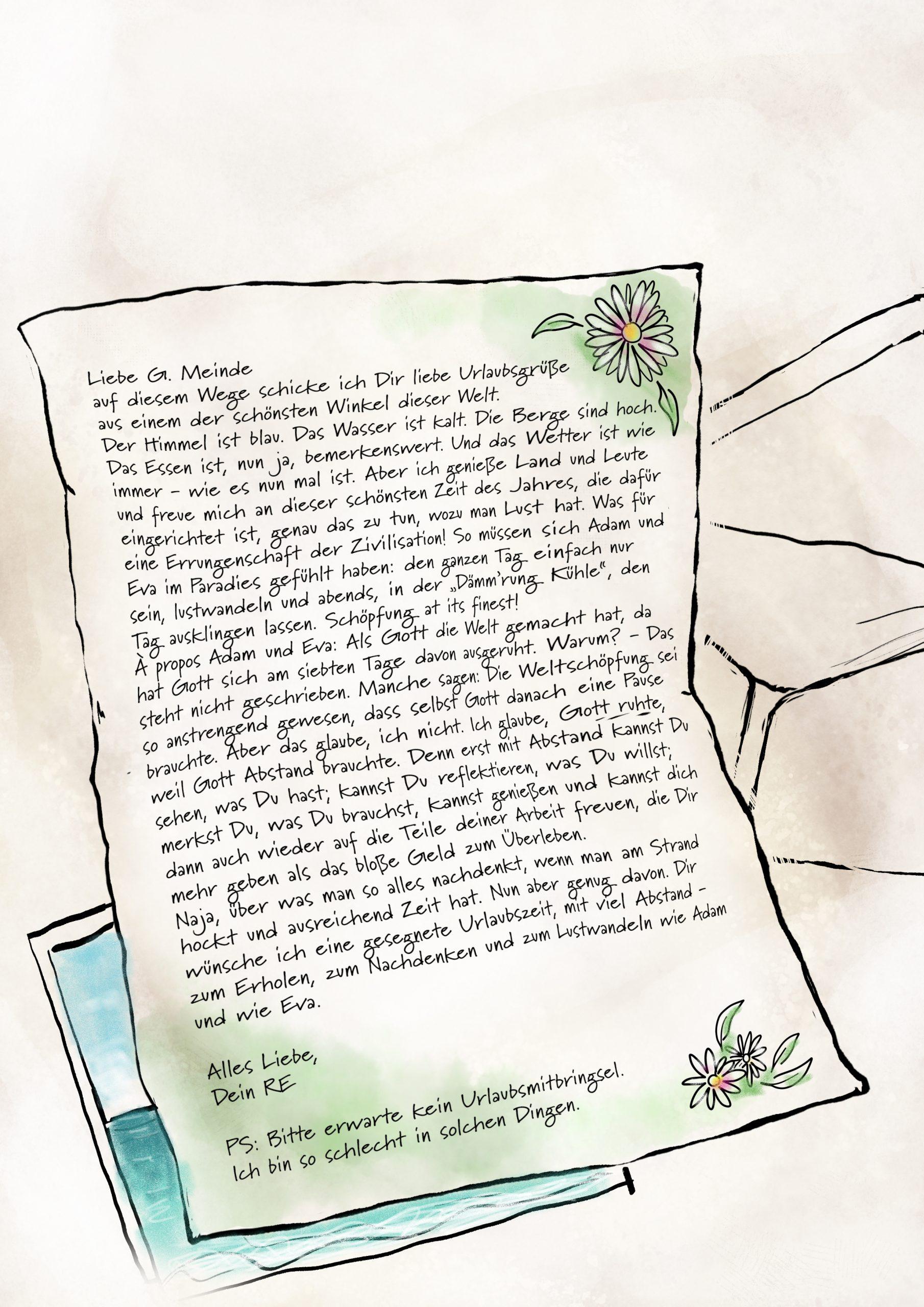 Gemeindebrief als Skizze