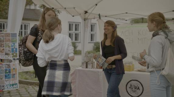 Foto: Infostand beim Jugendfest in Aumühle